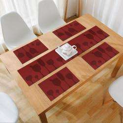 Red Wine. AND007457. Size- 45x30 cm. Runner Size- 135x30 cm
