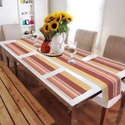 Multicolor Stripes. AND007462. Size- 45x30 cm. Runner Size- 180x30 cm