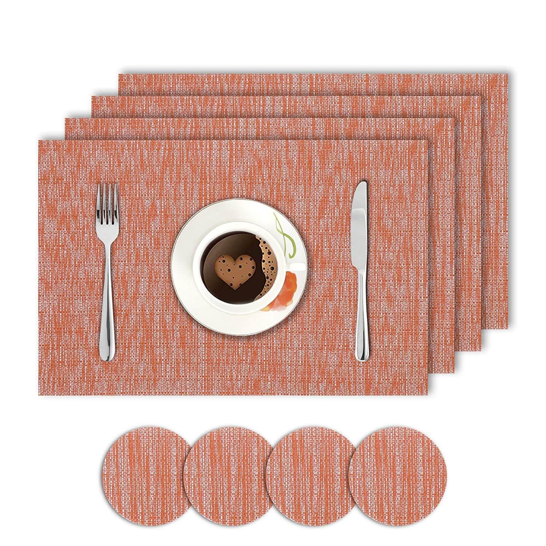 Solid Orange. AND008281. Size- 45x30 cm. Coaster Size- 10 cm