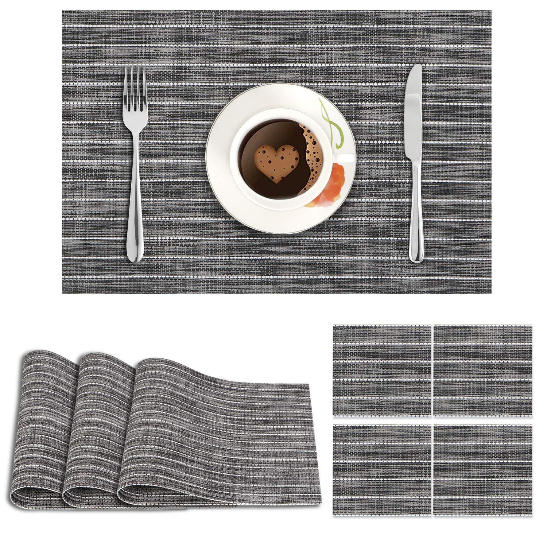 Dark Grey Stripes. AND009084. Size- 45x30 cm. Coaster Size- 10 cm