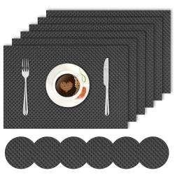 Black. AND008300. Size- 45x30 cm. Coaster Size- 10 cm