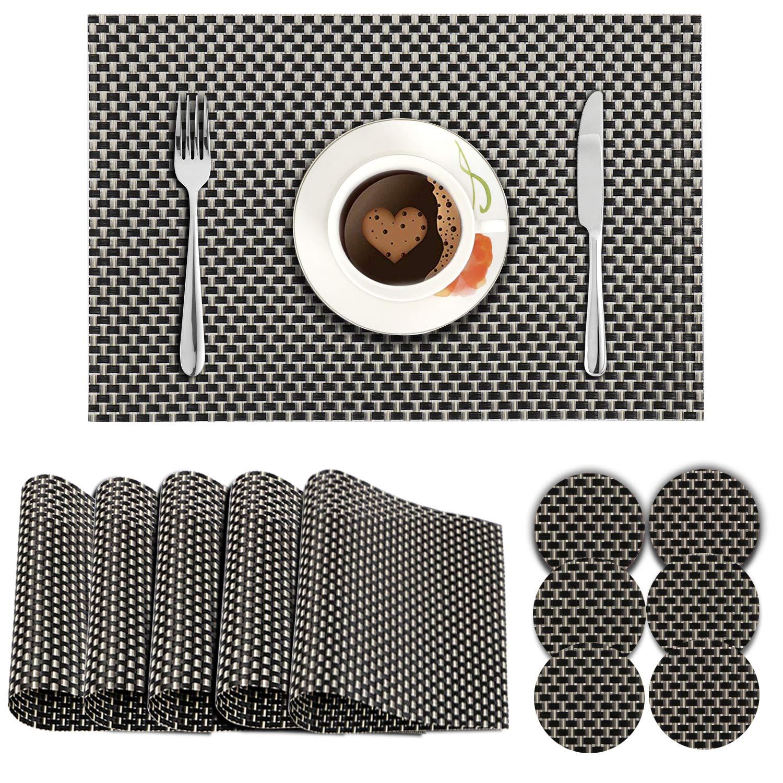 Black & Cream. AND008318. Size- 45x30 cm. Coaster Size-10 cm