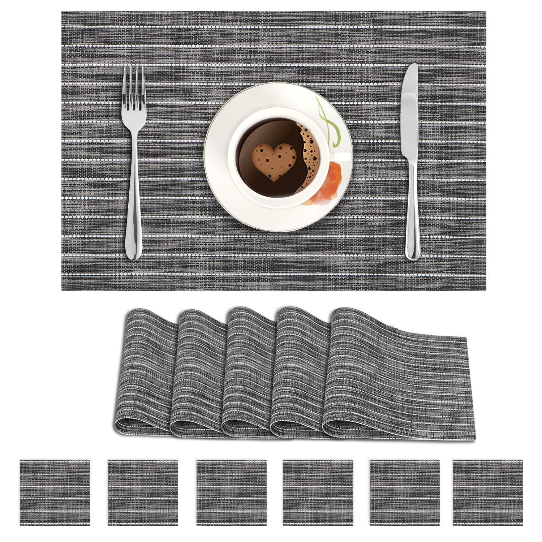 Dark Grey Stripes. AND009085. Size- 45x30 cm. Coaster Size- 10 cm