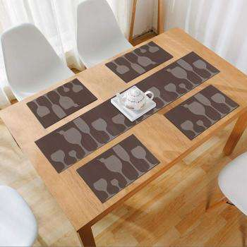 PVC Placemats Set of 4 With Runner
