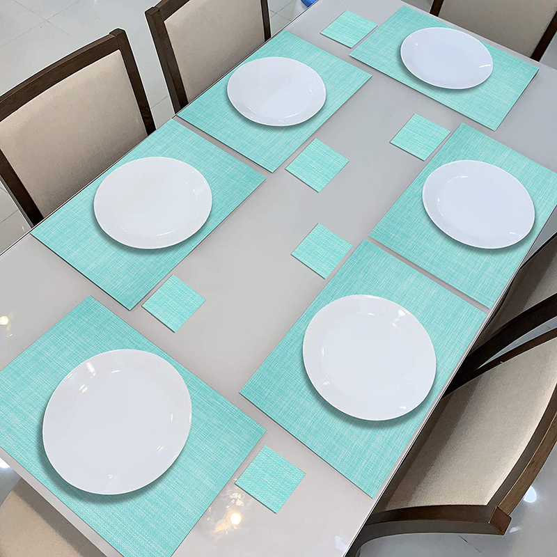 PVC Placemats and Coasters Set of 6