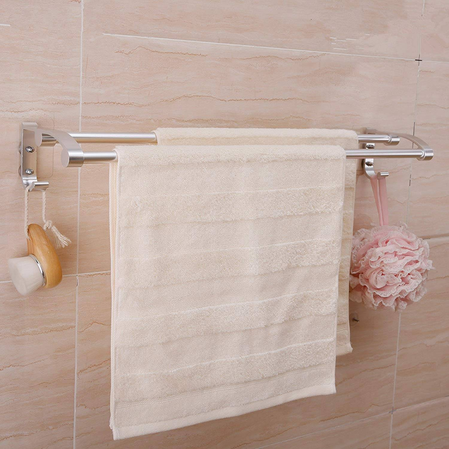 AND008019. Towel Rod Holder with 2 Hooks