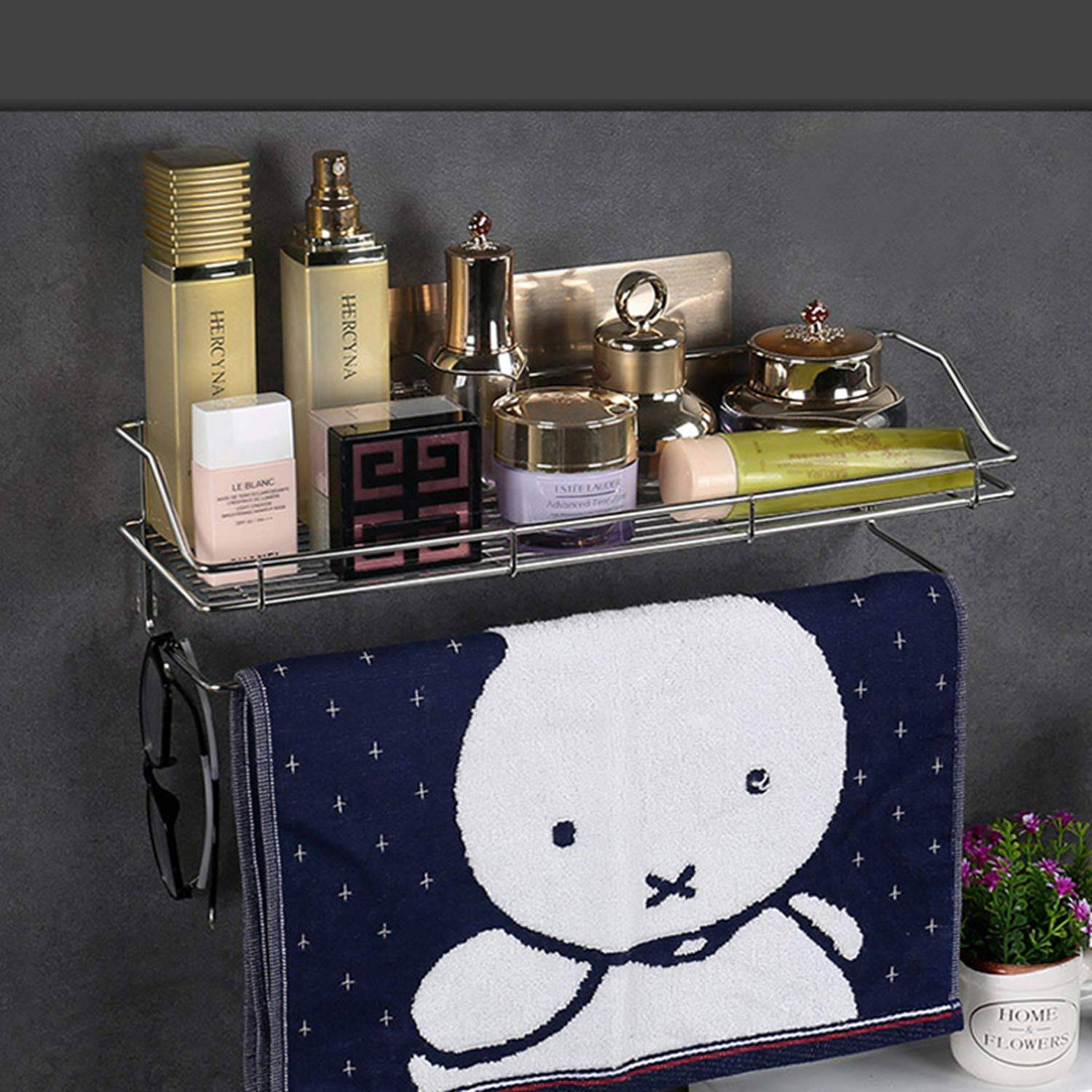 AND007060. 2 Tier Kitchen Bathroom Shelf and Towel Holder