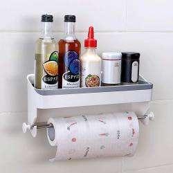 AND010800. 2-in-1 Kitchen Paper Towel Holder Storage Shelf