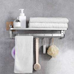 AND010791.  Folding Towel Rack with Hooks