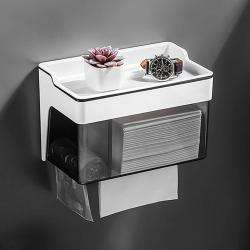 AND011768. Toilet Paper Holder with Storage Compartment & Garbage Bag Dispenser